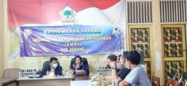 Nizamudin Muluk Terpilih Pimpin AMPI Kabupaten Serang