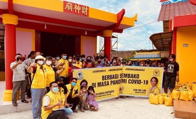 Ratusan Relawan Cen Sui Lan Nonstop Salurkan Sembako Untuk Warga Tanjungpinang dan Karimun