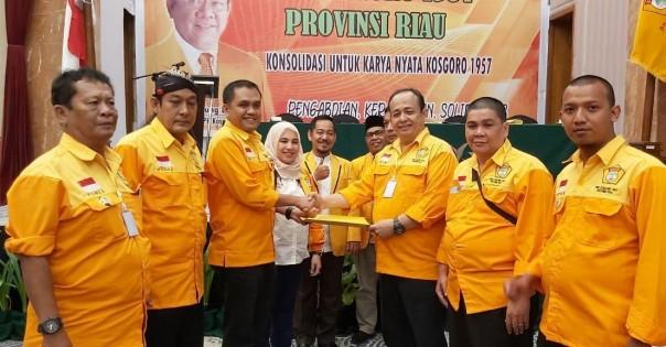 Nono Patria Pratama Terpilih Aklamasi Pimpin PDK Kosgoro 1957 Riau