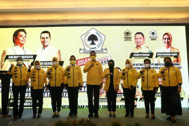 Lantik Pengurus AMPG dan KPPG Sumut, Musa Rajekshah: Golkar Harus Jadi Partai Terbesar di Sumut