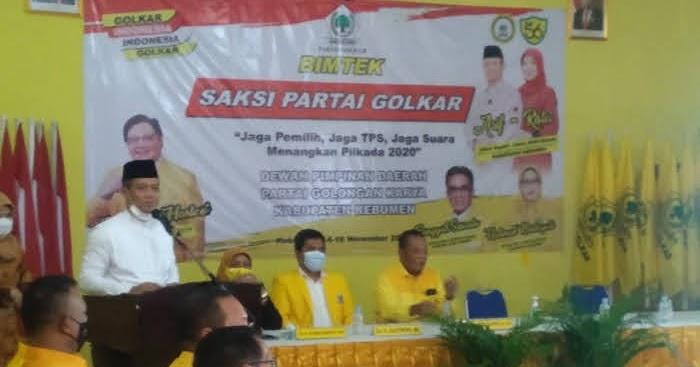 Kuasai Teritorial Jelang Pilkada 2020, Golkar Kebumen Gembleng 346 Saksi TPS