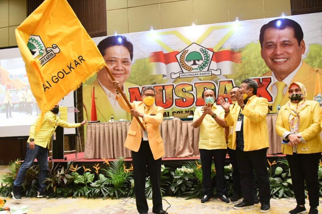 Taufan Pawe Diputuskan Mufakat Jadi Ketua Golkar Sulsel Gantikan Nurdin Halid