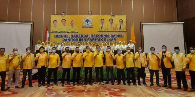 Gelar Dikpol, Rakerda, Rakornis Bappilu dan TOT BSN, Golkar Babel Siap Menangkan 4 Pilkada