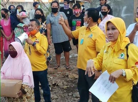 Golkar Turun Tangan Bantu Sembako Untuk Korban Banjir di Bandar Lampung