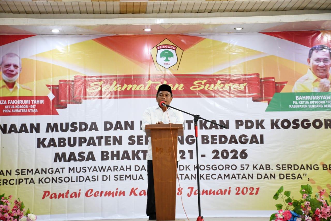 Wakil Bupati Darma Wijaya Hadiri Pengukuhan Pengurus Kosgoro 1957 Serdang Bedagai