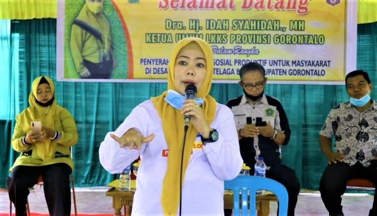 Salurkan Bansos Produktif, Idah Syahidah Juga Siap Perjuangkan Bantuan Wirausaha Warga Gorontalo