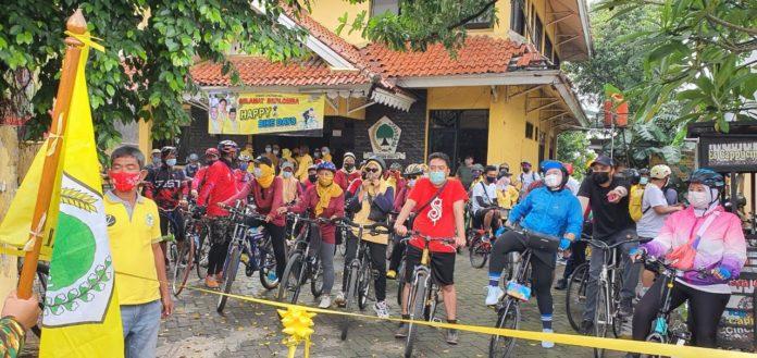 Bentuk Soliditas Kader, Golkar Jakarta Timur Gelar Sepeda Santai 11 KM Lawan COVID-19
