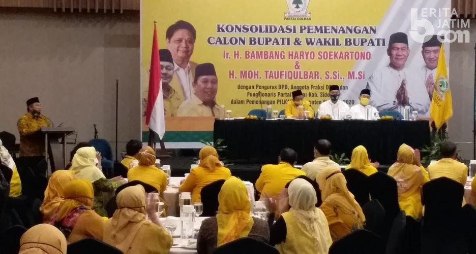 10.600 Kader Golkar Siap Menangkan BHS-Taufiqulbar di Pilkada Sidoarjo