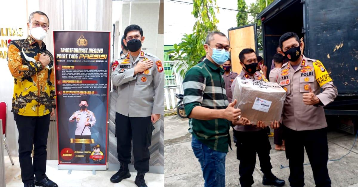 Andi Rio Idris Padjalangi Salurkan 10 Ribu Masker dan 10 Ribu Hand Sanitizer Untuk Masyarakat Sulsel