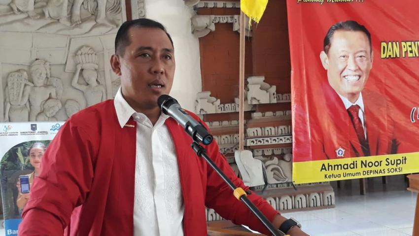 Jadi Percontohan Nasional, Gus Adhi Siapkan Asuransi Jiwa Bagi Seluruh Kader SOKSI Bali
