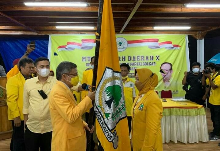 Wakil Bupati Andi Kartini Ottong Terpilih Aklamasi Pimpin Golkar Sinjai