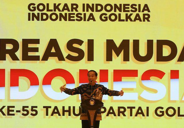 Jadi Tulang Punggung Pemerintah, Jokowi Minta Golkar Tetap Solid