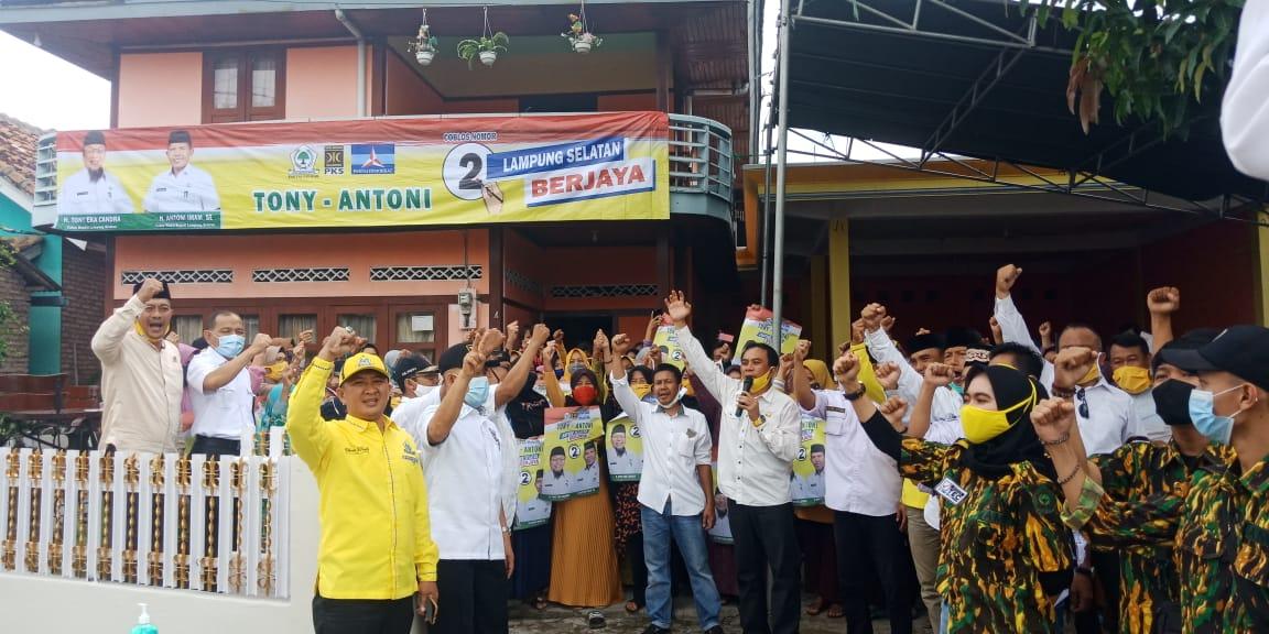 Kampanye di Kalianda, Tony Eka Candra Janjikan Masyarakat Lamsel Pendidikan Gratis Hingga Kuliah
