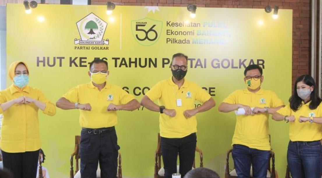Ini Rangkaian Acara HUT Ke-56 Golkar, Jokowi Akan Hadir Virtual Di Acara Puncak