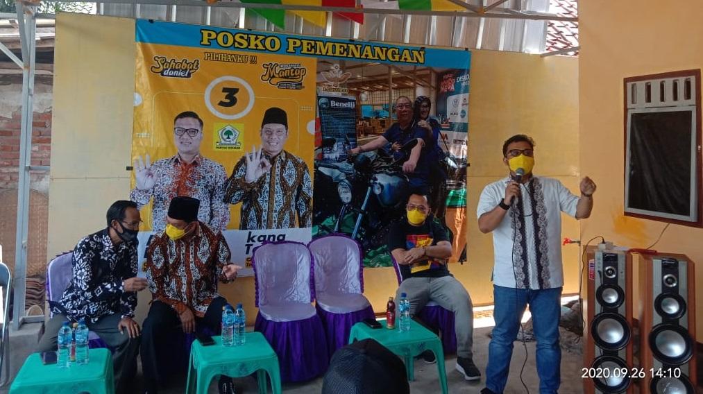 Hari Pertama Kampanye Pilkada Indramayu, Daniel-Taufik Resmikan Posko Relawan Laskar 03