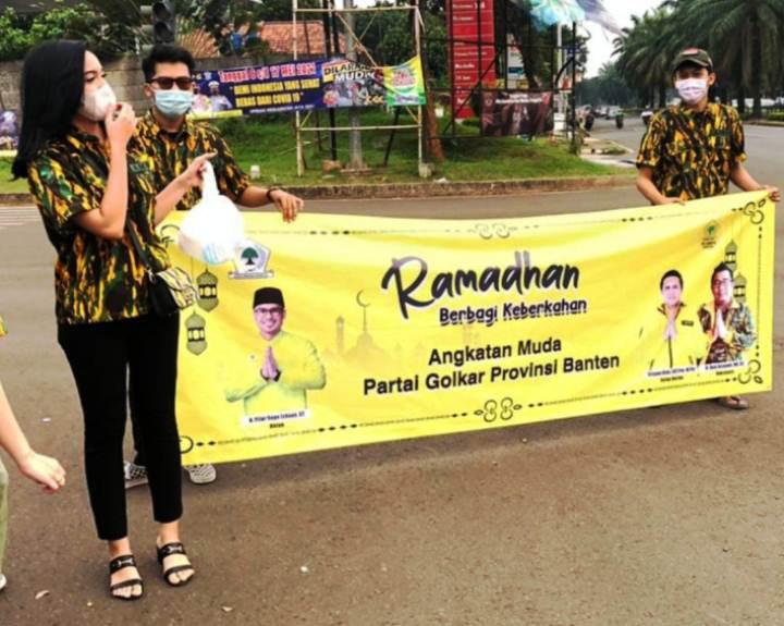 Berbagi Keberkahan Puasa, AMPG Banten Gelar Baksos di Tangsel dan Serang