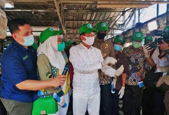 Dedi Mulyadi Apresiasi Pemanfaatan Limbah Pasar Jadi Pupuk Organik Untuk Tanaman Pertanian