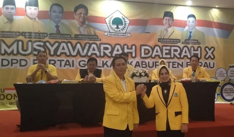 Duet Andi Amir Hamzah dan Syarifatul Syadiah Terpilih Aklamasi Pimpin Golkar Berau