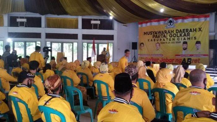 Selamat Triana Kembali Pimpin Golkar Ciamis, Ade Barkah Ingatkan Kejayaan Golkar Jawa Barat
