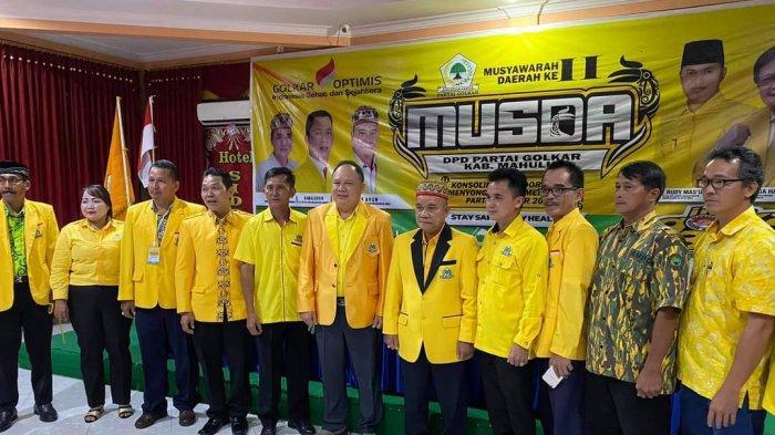 Wakil Bupati Yohanes Avun Terpilih Aklamasi Pimpin Golkar Mahakam Ulu