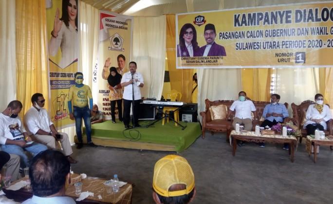 Kampanye CEP-Sehan Bergelora di Bolmong Raya, Djelantik Mokodompit Optimis Menang 70 Persen