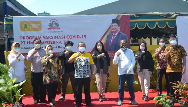 Gandeng Yellow Clinic, Sarmuji Apresiasi Vaksinasi Untuk Para Buruh Sampoerna di Rungkut Surabaya