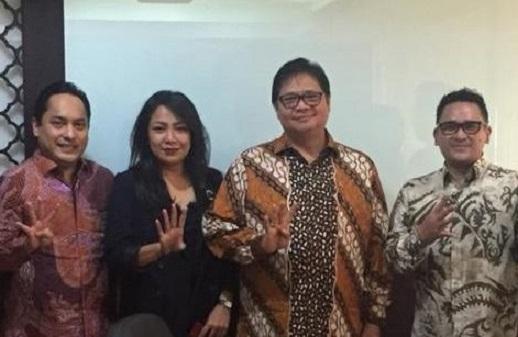 Silaturahmi Dengan Airlangga, Forum Pemuda Kosgoro Gagas Industri 4.0 Ramah Lingkungan