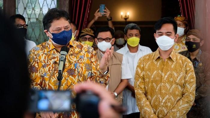 Sambangi Kota Solo, Airlangga Ungkap Isi Pertemuan Tertutupnya Dengan Walikota Gibran
