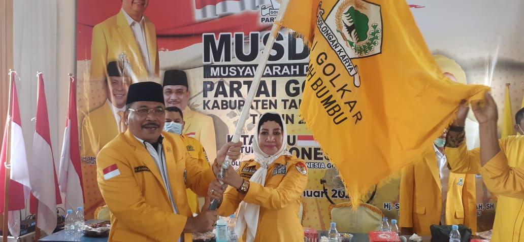 Syarifah Santiyansyah Kembali Terpilih Aklamasi Pimpin Golkar Tanah Bumbu