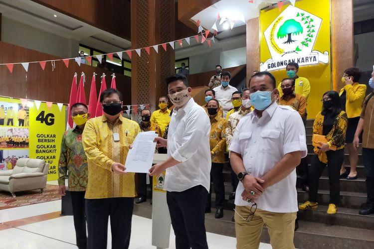 Terima Rekomendasi Langsung Dari Airlangga, Bobby Nasution Berterima Kasih Pada Golkar