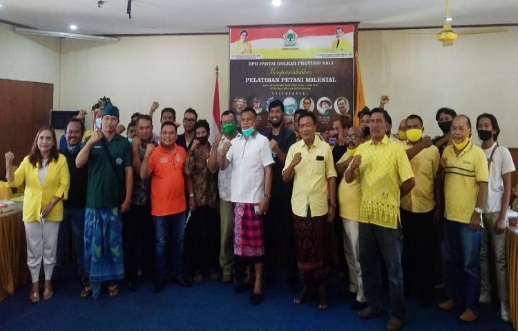Karya Kekaryaan, Golkar Bali Motivasi Generasi Milenial Jadi Petani Muda Keren