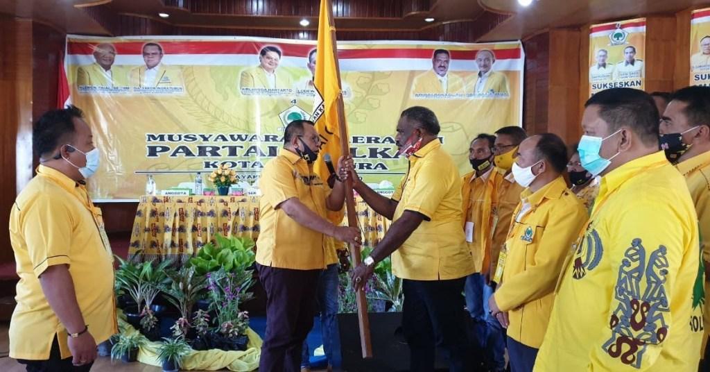 Tanpa Lawan, Abisai Rollo Kembali Terpilih Jadi Ketua Golkar Kota Jayapura