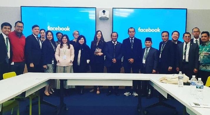Bahas Hoaks Dan Ujaran Kebencian, Satya Widya Yudha Pimpin Komisi I DPR Kunjungi Facebook