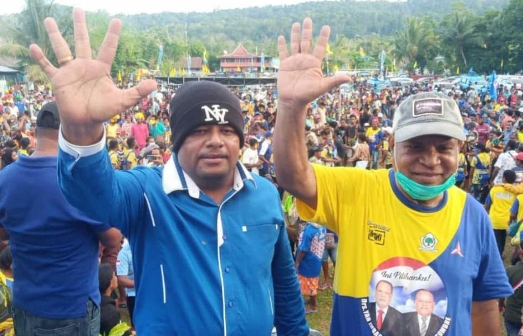 Unggul di Pilkada Supiori, Yan Imbab-Nichodemus Ronsumbre Minta Kotak Suara Segera Ditarik ke Distrik dan KPU