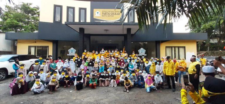 Lanjutkan Tradisi Ramadhan, Golkar Santuni Ratusan Anak Yatim di 11 Kecamatan di Kota Depok