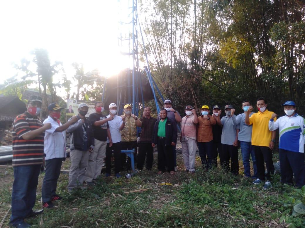 Sediakan Air Bersih Untuk Warga Karangploso, Ridwan Hisjam Bangun Delapan Sumur Bor