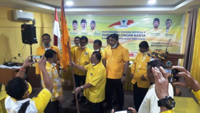 Yakub Saguruk Terpilih Aklamasi Pimpin Golkar Kepulauan Mentawai