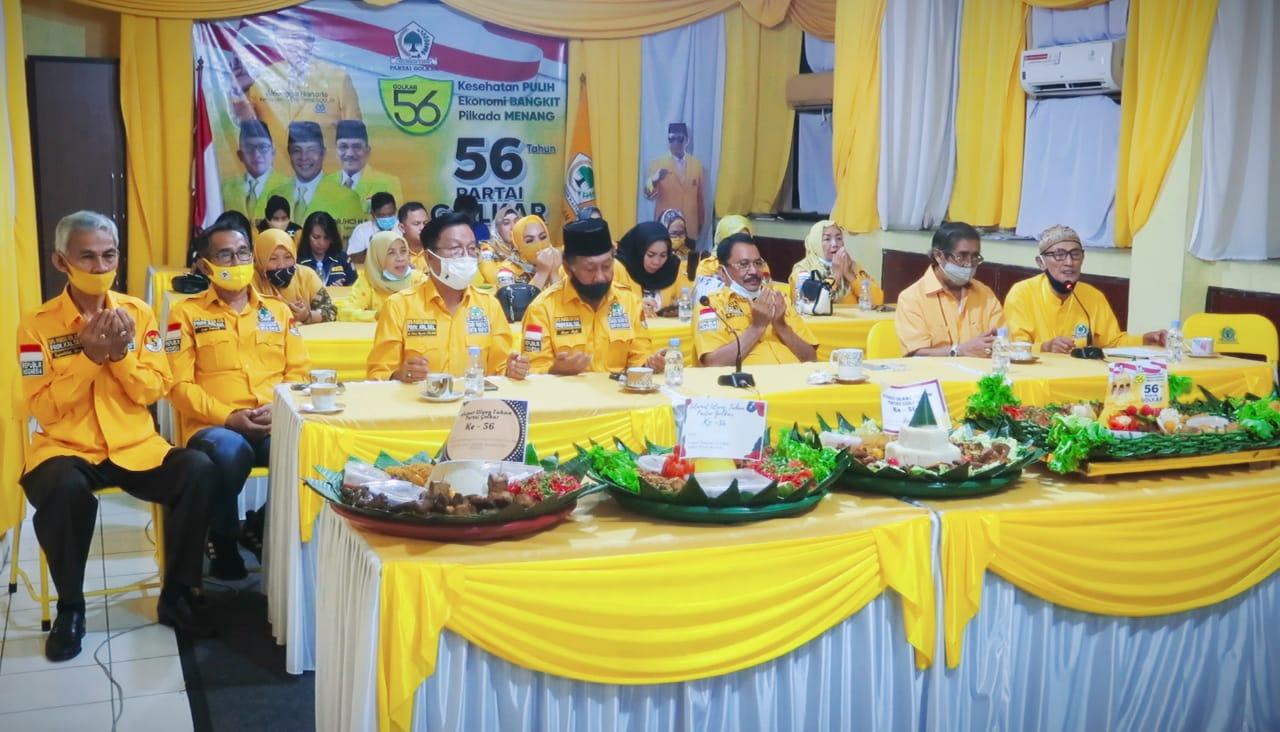 HUT Ke-56, Supian HK Ajak Kader Golkar Kalsel Memberikan Banyak Manfaat Bagi Masyarakat
