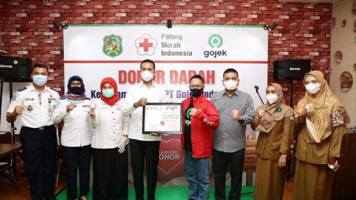Wagub Sumut Musa Rajekshah Gandeng Mitra Gojek Gelar Donor Darah Langka di Kota Medan