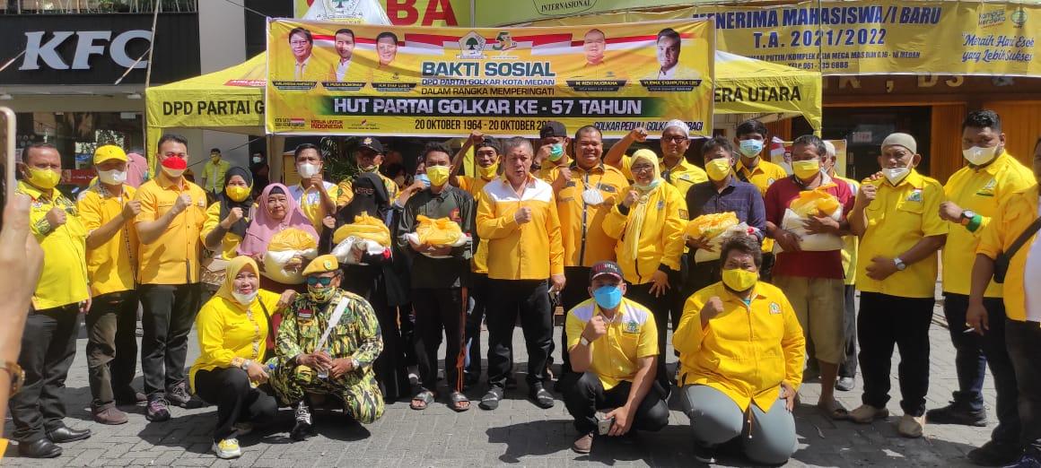 Masyarakat Kota Medan Doakan Terbaik Untuk Airlangga Hartarto dan Musa Rajekshah