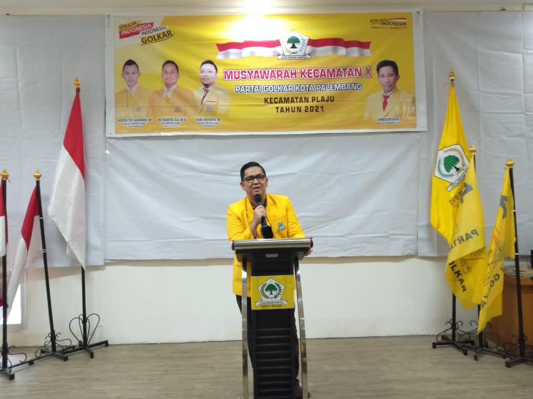 Golkar Jagokan M Hidayat Jadi Walikota Palembang dan Dodi Reza Jadi Gubernur Sumsel