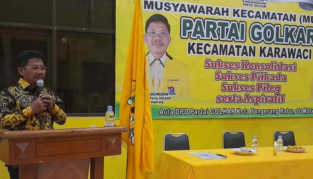 Sachrudin Minta Kader Golkar Jadi Contoh Terbaik Bagi Masyarakat Kota Tangerang
