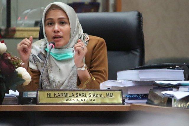 Karmila Sari Ajak Masyarakat Riau Manfaatkan Fasilitas Vaksin Sinovac Gratis Dari Pemerintah