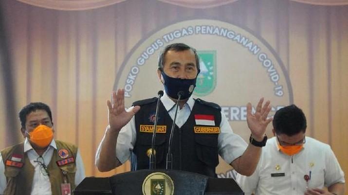 Gubernur Riau Syamsuar dan Istri Terkonfirmasi Positif COVID-19