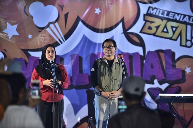 Lewat Milenial Day, Indah-Suaib Gaungkan Lawan Money Politics di Pilkada Luwu Utara