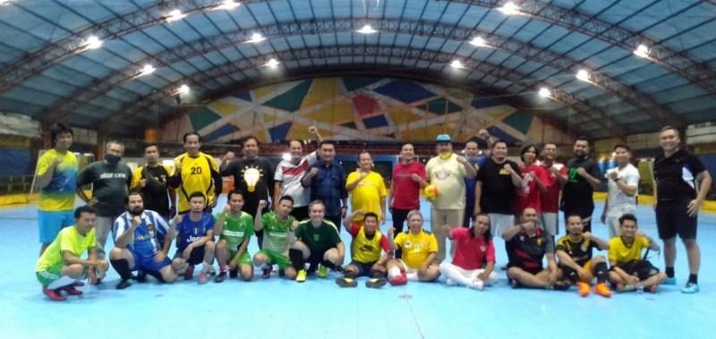 HUT Ke-56, Golkar Kota Surabaya Gelar Pertandingan Futsal Lawan Awak Media Massa