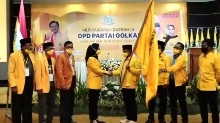 Calon Tunggal, Dadan Supardan Terpilih Pimpin Golkar Kabupaten Bandung Barat