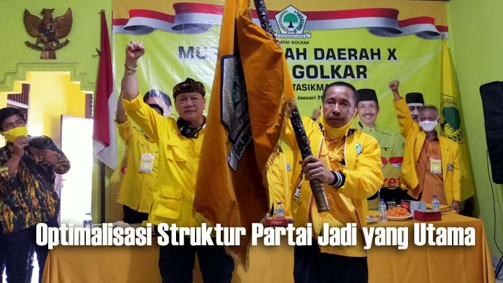 Erry Purwanto Kembali Terpilih Pimpin Golkar Kabupaten Tasikmalaya