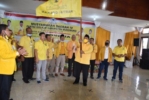 Choirul Huda Kembali Terpilih Jadi Ketua Golkar Mukomuko