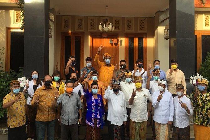 Gde Sumarjaya Linggih Turun Gunung Beri Semangat Mas Sumatri-Made Sukerena di Karangasem
